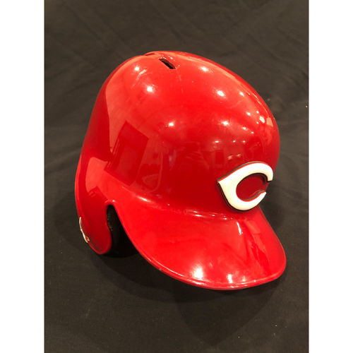 "Photo of Reds Commemorative ""No. 1"" Retired Number Helmet -- (Not MLB Authenticated, COA Included) -- Helmet Scheduled to Arrive Prior to Dec 24"