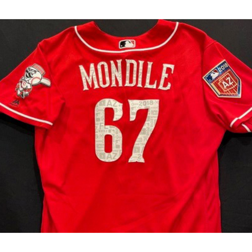 Photo of MONDILE -- Authentic Reds Jersey -- $1 Jersey Auction -- $5 Shipping -- Size 48 (Not MLB Authenticated)