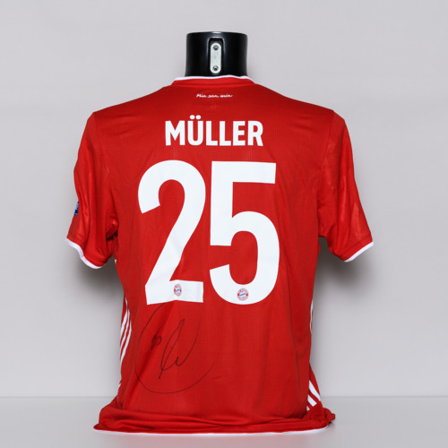 Photo of 20/21 FC Bayern Munchen Jersey - signed by Thomas Muller