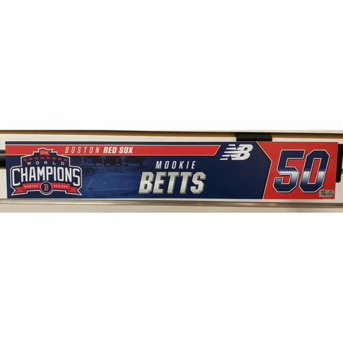 Photo of Mookie Betts #50 Team Issued Locker Tag