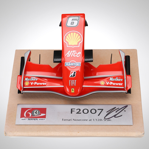 Photo of Kimi Räikkönen 2007 Signed 1:12 Scale Ferrari Nosecone