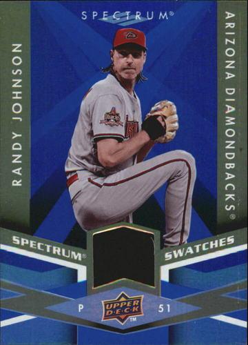 Photo of 2009 Upper Deck Spectrum Spectrum Swatches Blue #SSRJ Randy Johnson