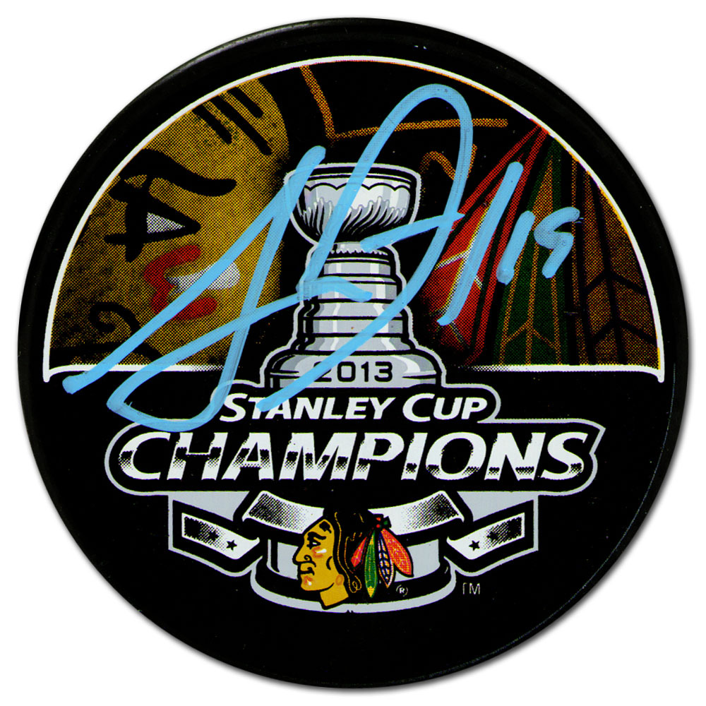 Jonathan Toews Autographed Chicago Blackhawks 2013 Stanley Cup Champions Puck