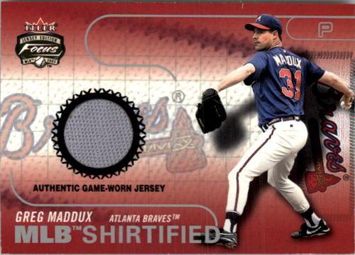 Photo of 2003 Fleer Focus JE MLB Shirtified Game Jersey #GM Greg Maddux