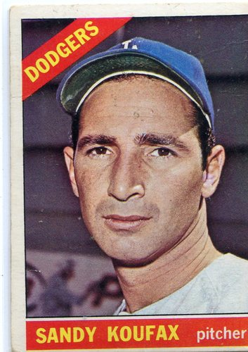 Photo of 1966 Topps #100 Sandy Koufax -- Hall of Famer