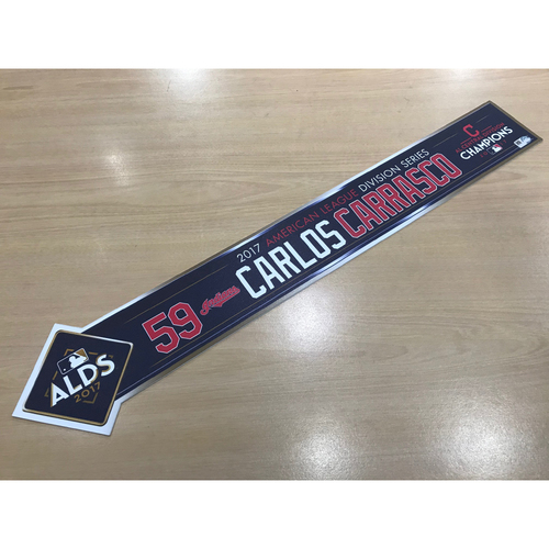 Carlos Carrasco 2017 American League Division Series Locker Name Plate