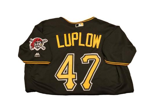 #47 Jordan Luplow Game-Used Black Alternate Jersey - Worn on 9/5/17 - 1 for 3, 2 Run HR off Hendricks