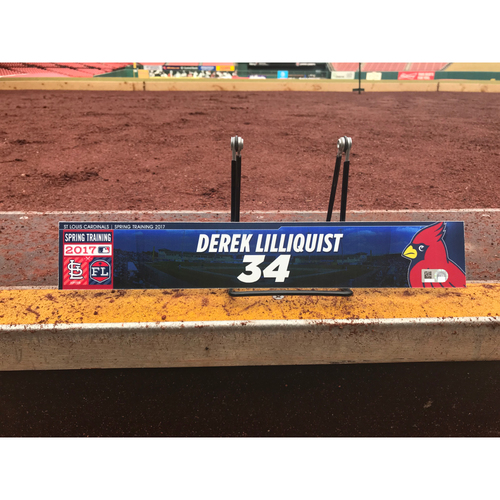 Photo of Cardinals Authentics: Derek Lilliquist Team-Issued Spring Training Locker Tag