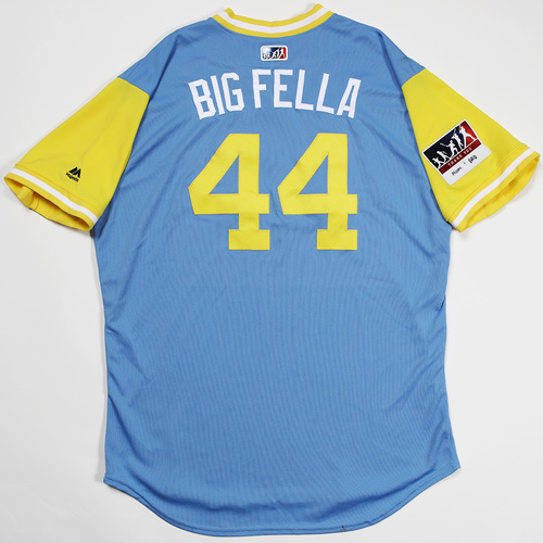 "Photo of C.J. ""Big Fella"" Cron Tampa Bay Rays Game-Used 2018 Players' Weekend Jersey"