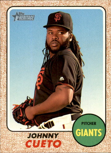 Photo of 2017 Topps Heritage #254 Johnny Cueto