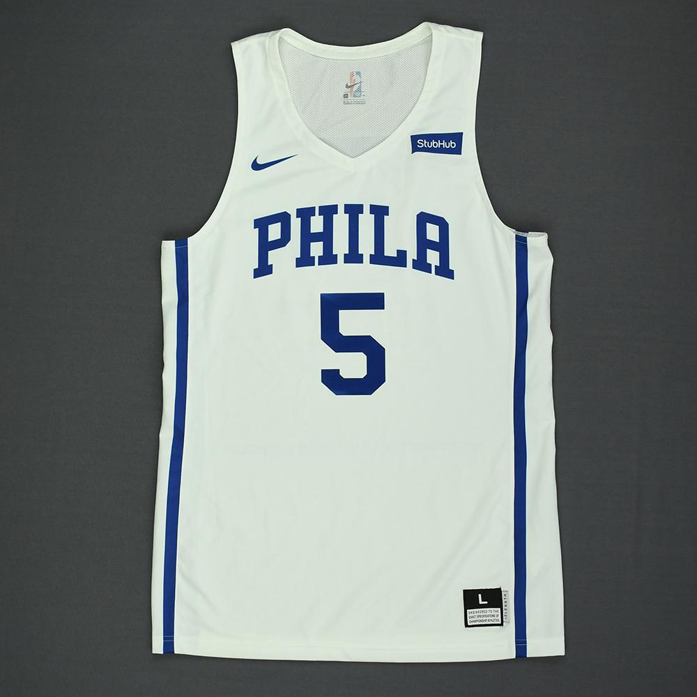 07a88121406 Landry Shamet - Philadelphia 76ers - 2018 NBA Summer League - Game-Worn  Jersey