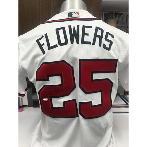 Photo of Tyler Flowers Autographed Jersey