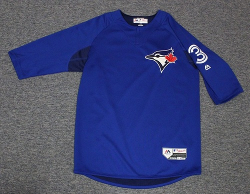 Photo of Authenticated Team Issued Batting Practice Jersey - #3 Ezequiel Carrera. Size M.