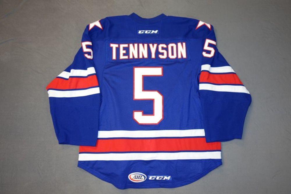 Matt Tennyson Game-Worn Rochester Americans Blue Jersey