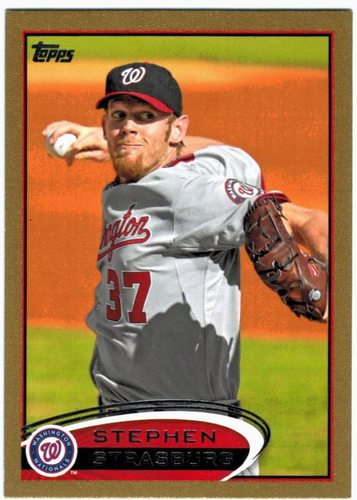 Photo of 2012 Topps Gold #556 Stephen Strasburg