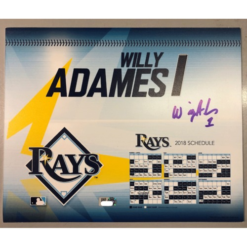 Photo of Game-Used Autographed Locker Tag: Willy Adames - First MLB Season