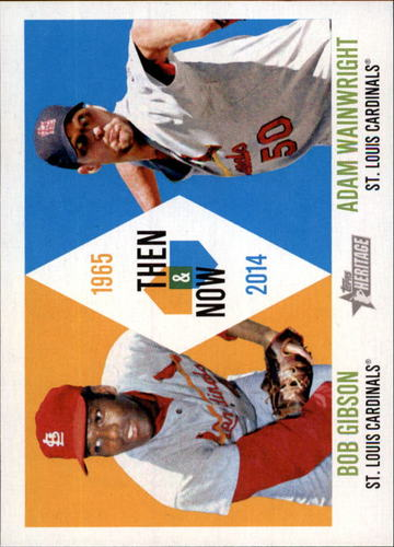 Photo of 2014 Topps Heritage Then and Now #TANGW Bob Gibson/Adam Wainwright