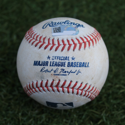 Photo of Game-Used Baseball: Marcus Semien 745th Career Hit (OAK @ KC - 8/28/19)