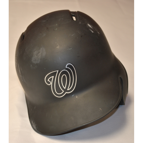 """Photo of Victor """"VIC"""" Robles Washington Nationals Game-Used 2019 Players' Weekend Helmet"""