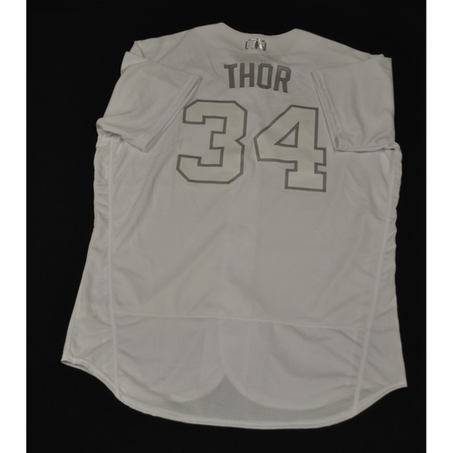 "Photo of Noah ""THOR"" Syndergaard New York Mets Team-Issued 2019 Players' Weekend Jersey"