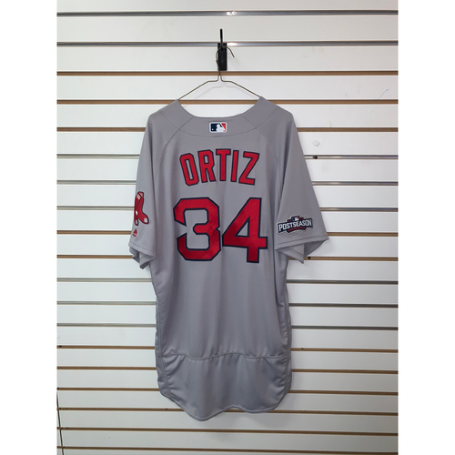Photo of David Ortiz Team Issued 2016 Postseason Road Jersey