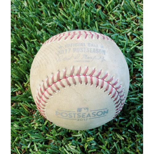 Photo of 2017 NL Wild Card Game-Used Baseball -- 10/4/17 Valaika (Rockies) vs. Bradley (Foul, 4 pitches total)