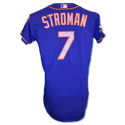 Photo of Marcus Stroman #7 - Team Issued Blue Alt. Road Jersey - 2019 Season