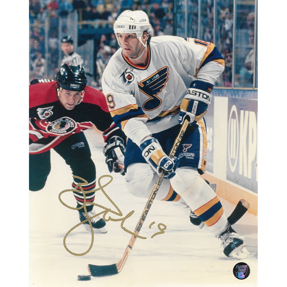 Brendan Shanahan Autographed St. Louis Blues 8X10 photo