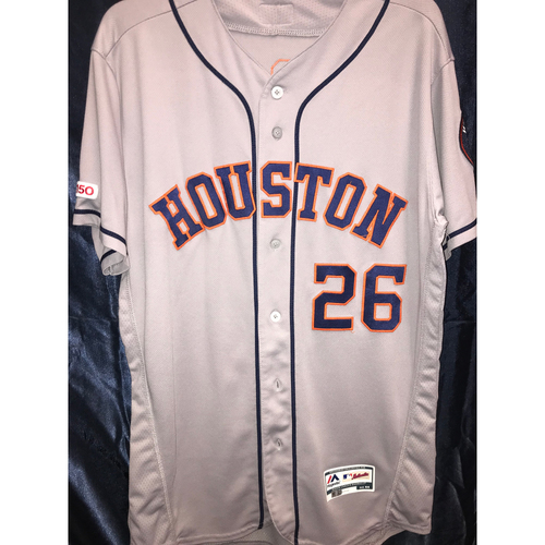 Photo of 2019 Game-Used Myles Straw Road Gray Jersey - 9/28/19 (Size 44)