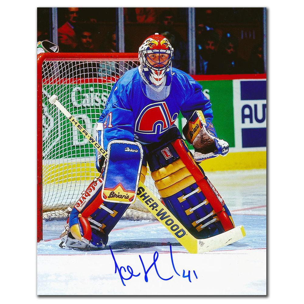 Jocelyn Thibault Quebec Nordiques Autographed 8x10