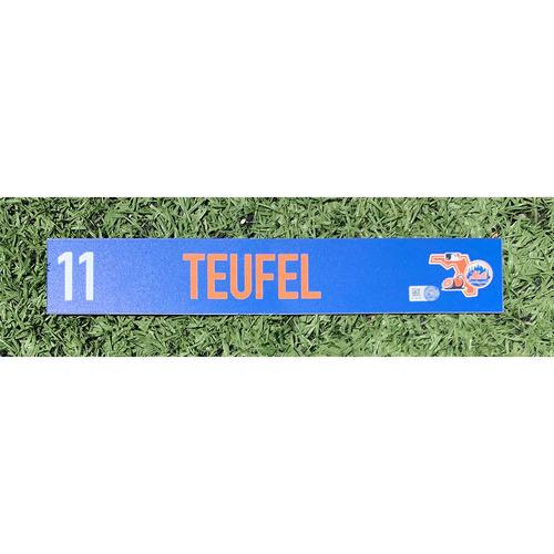 Photo of Tim Teufel #11 - Team Issued Locker Nameplate - 2020 Spring Training