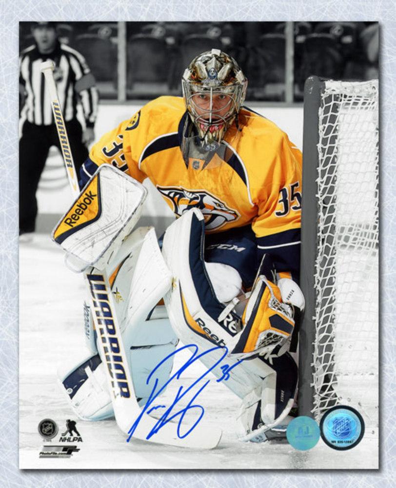 Pekka Rinne Nashville Predators Autographed Goalie Spotlight 8x10 Photo