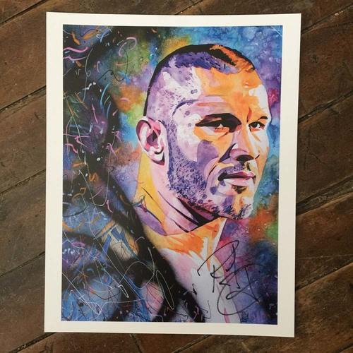Randy Orton SIGNED 11 x 14 Rob Schamberger Print