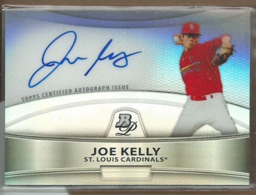 Photo of 2010 Bowman Platinum Prospect Autographs Refractors Joe Kelly