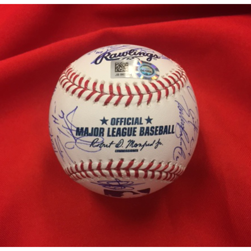 Reds 2017 Team-Signed Baseball -- Featuring Joey Votto, Billy Hamilton, Zack Cozart, Adam Duvall
