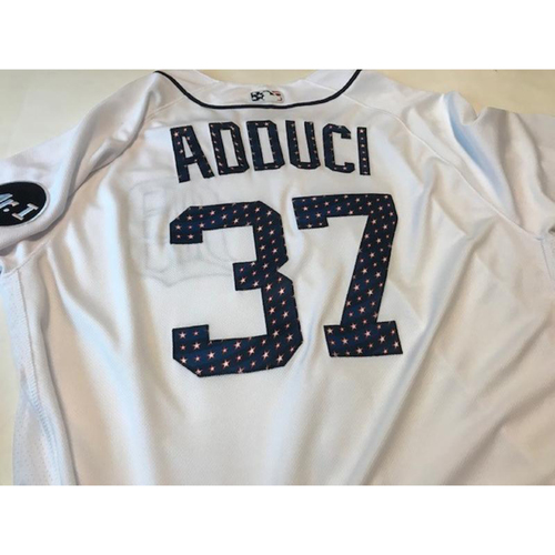 Photo of Team-Issued Stars and Stripes Jersey: Jim Adduci