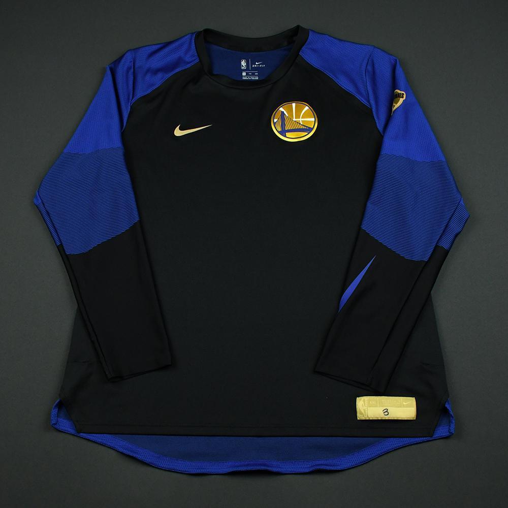 David West - Golden State Warriors - 2018 NBA Finals - Game-Issued Shooting Shirt