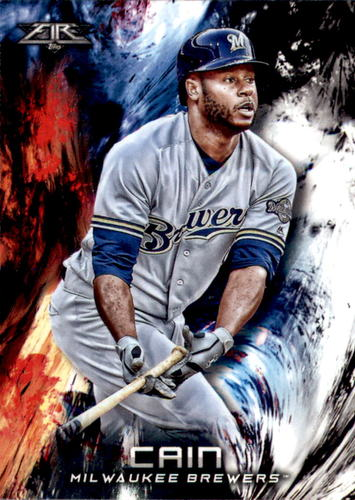 Photo of 2018 Topps Fire #90 Lorenzo Cain