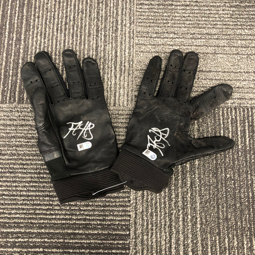 Photo of 2018 Holiday Deal! - Autographed Team Issued Batting Gloves (Player Collected) - #5 Nick Hundley
