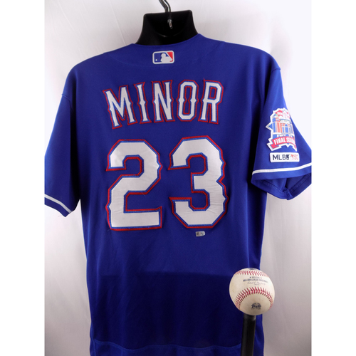 Photo of Game-Used Baseball and Jersey Package - Mike Minor - 4/16/19