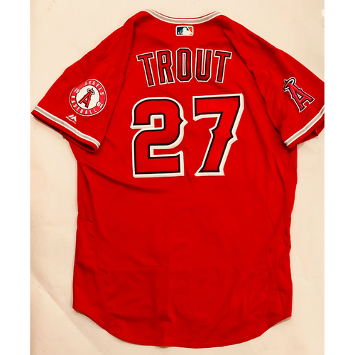48c24c49b91 2019 Mexico Series - Game-Used Jersey - Mike Trout, Houston Astros at Los