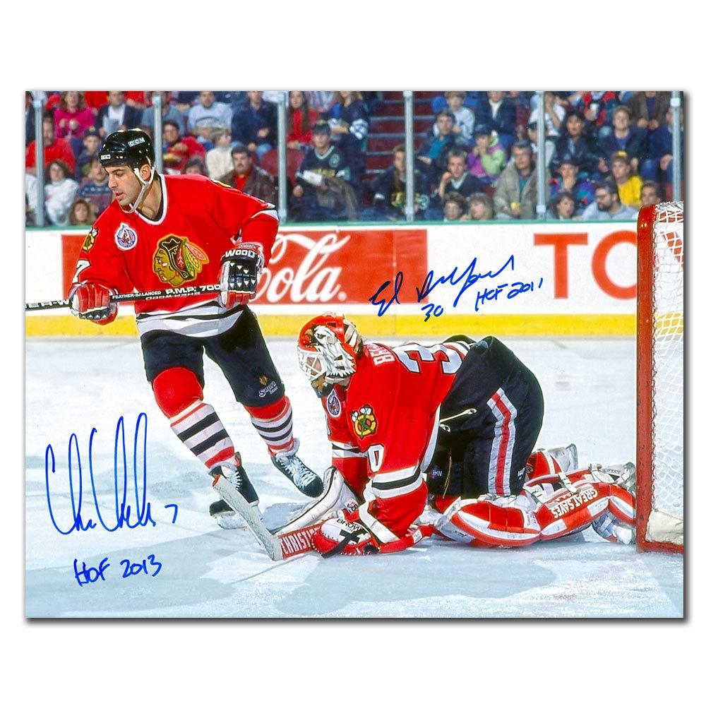 Chris Chelios & Ed Belfour Chicago Blackhawks HOF Dual Autographed 11x14