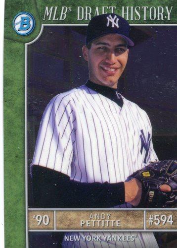 Photo of 2017 Bowman Chrome Draft MLB Draft History #MLBDAP Andy Pettitte