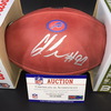 Bills - Ed Oliver Signed Authentic Football W/ 100 Seasons and Bills Logos