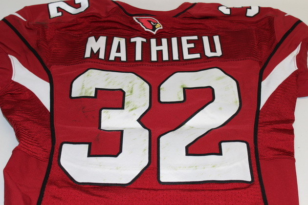 tyrann mathieu game worn jersey