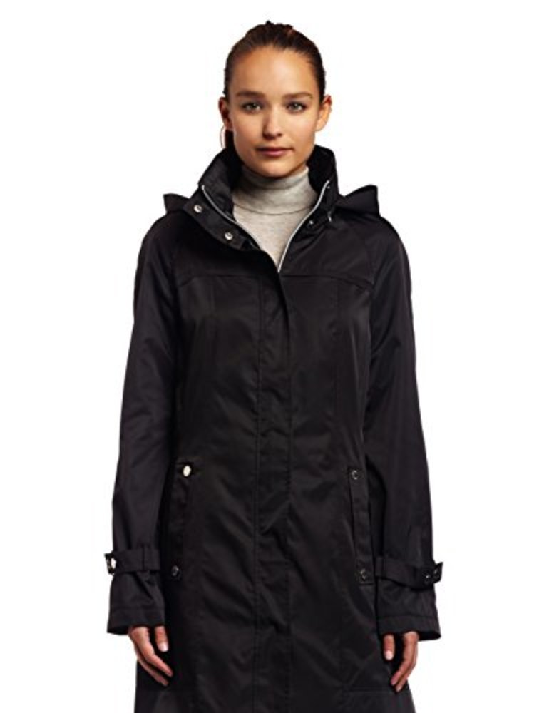 Photo of Calvin Klein Hooded Packable Stand-Collar Wrinkle-Resistant Anorak