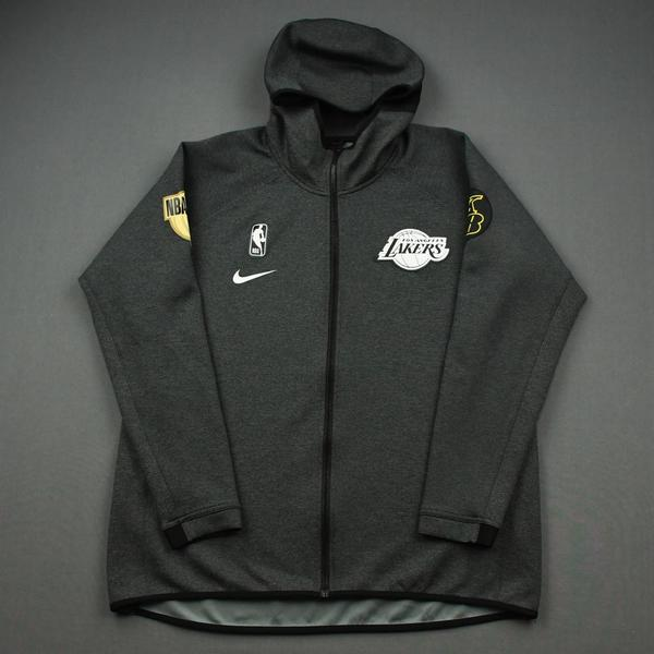 Image of LeBron James - Los Angeles Lakers - 2020 NBA Finals Game 4 - Game-Worn Hooded Warmup Jacket