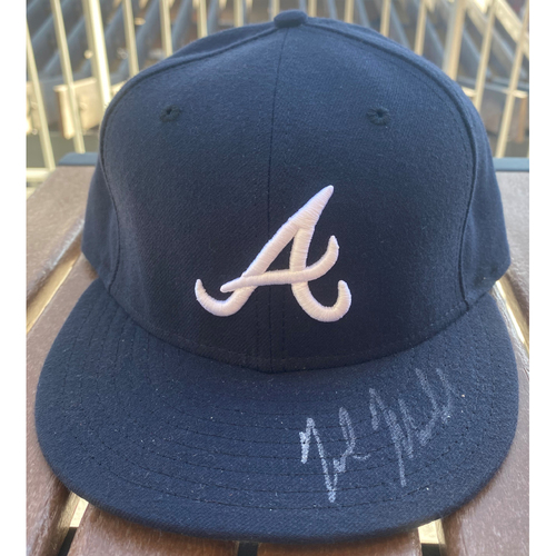 Photo of Nick Markakis Autographed Hat