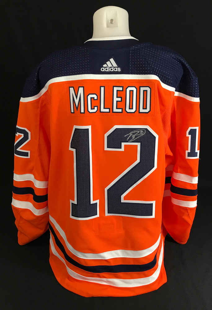 Ryan McLeod - Autographed Edmonton Oilers Intersquad Game Worn Colby Cave Tribute Jersey