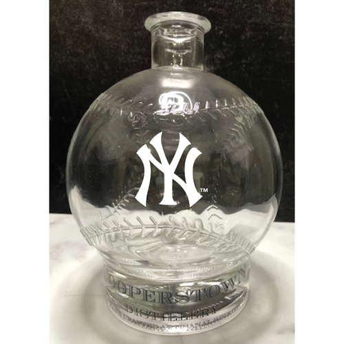 Photo of LOT #74: Limited Edition Interlocking NY logo etched Baseball Decanter